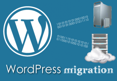 wordpress site transfer from one server to another