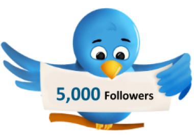 5000 Twitter Followers Fast within 2 hours for 1 to 2 dollars