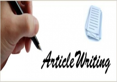 I need long term Article Writing Only Native English