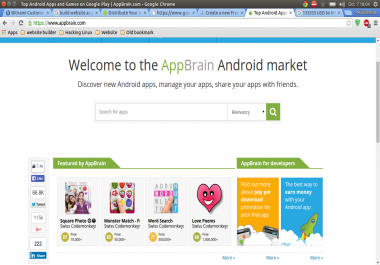 Wikipedia + Play Store + App Store + Music Store + Download Site + Forum + Classified ads