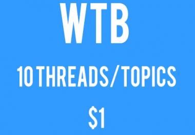 10 Forum Threads/Topics