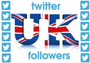 1000 HQ UK twitter followers