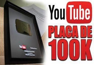 100k views um video youtube