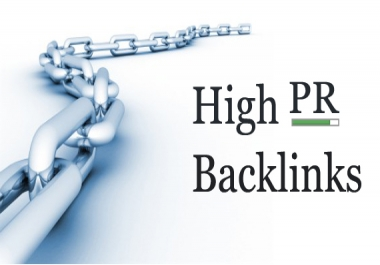 I need High Pr Backlinks