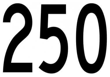250 legit youtube views
