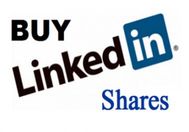 3000 Linkedin Shares in LinkedIn not shares for websites