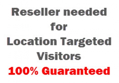I am looking for reseller to sell website traffic for me