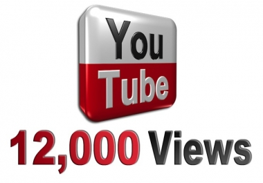 12000+ youtube Views Added slowly over 10days High Retention 75
