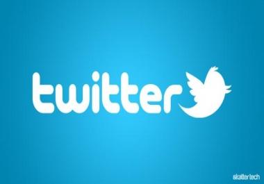 Twitter 100 favorite + 50 retweets
