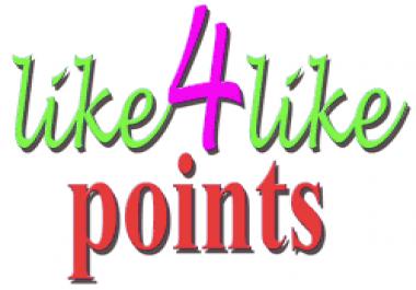 4500 like4like points needed
