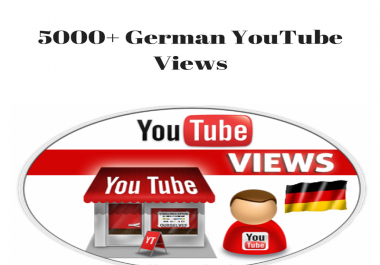 5000 German Safe/Non Drops High Retention YouTube View