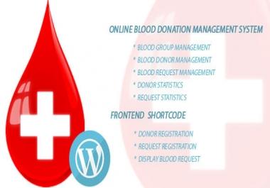 Blood Bank Online management php script