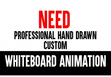 Need to A Professional Hand Drawn Custom Whiteboard Animation