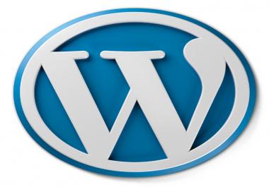 Need Install WordPress and theme setup