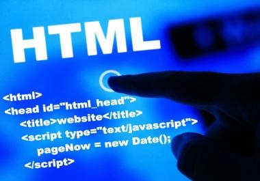Website in html make menu and banner