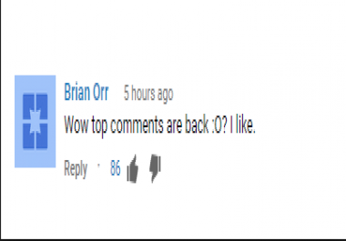 Youtube Comment Thumbs Up