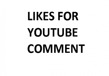 Likes on YouTube comment