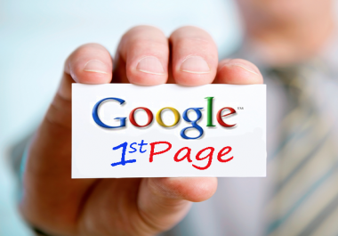 Guaranteed First Page Rank for 1 Keyword 200 +Monthly 100