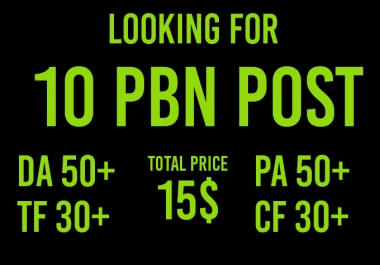 I need to 10 manual pbn home page post