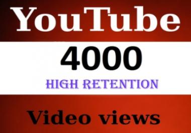 4000+ High Quality Youtube Views