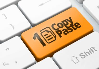Simple Buildbox or Teamviewer data entry copy/paste job