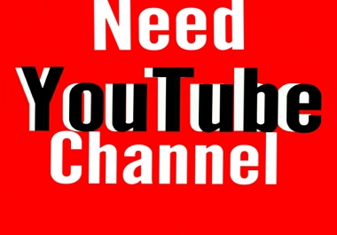 I Need 500+ youtube Channel with gmail