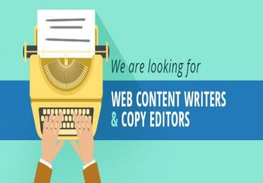 Professional Description Writer for website names