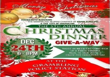 Christmas Food flyer