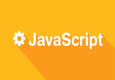 I want 2 JavaScript Code Total budget 5