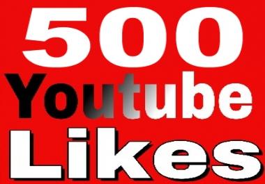 500 Youtube L.i.k.e.s,  Non Drop,  Guarantee