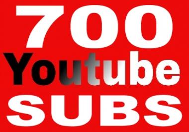 700 Youtube Subs for 5,  Non Drop,  Guarantee