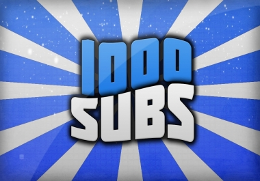 1000 subscriber for 5 dollar