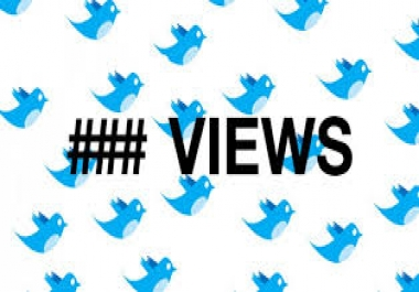 Twitter video views for a cheap rate