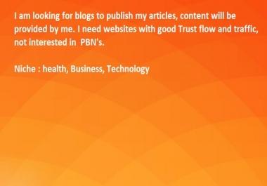Guest Post Publishing