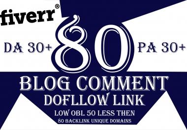 Provide You 80 Blog Comments Do follow Link Unique Domains