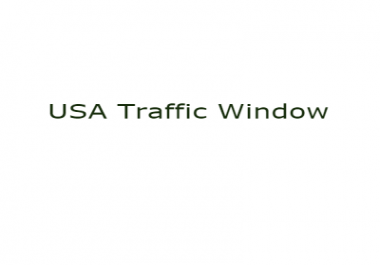 USA Human traffic for window computer only