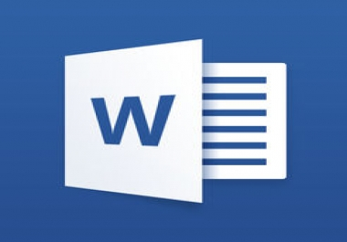 type up a written document with changes