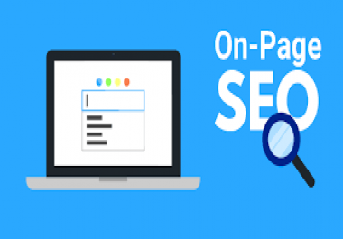 I need on-page SEO service