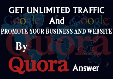 Promote Your Website By HQ Quora Answer Wth Back Link