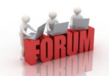 Looking forum posting for my website