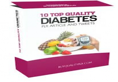 DIABETES PLR ARTICLES AND EBOOKS