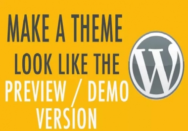 Wordpress Theme as Demo install