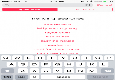 trending artist on apple