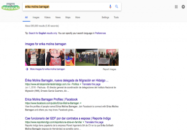 Clean up a person in google