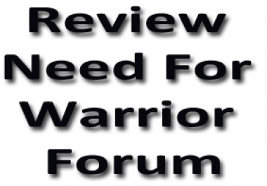 Warrior Forum Review On my Service Per Review 2