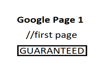 Rank my site on first page,  work for expert