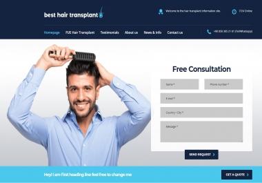 1 Permanant Hair Transplant Web Site High DA 31+ Dofollow PBN Link