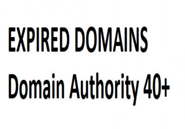 Need expired domains DA 40+