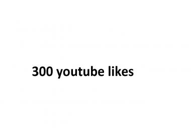 300 YouTube L/ikes