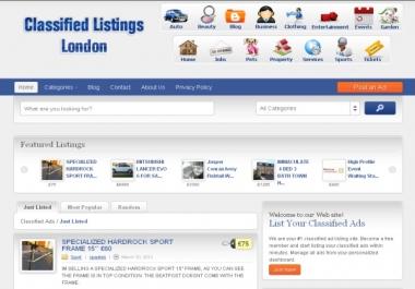 build you professional classifiedads website on wordpress